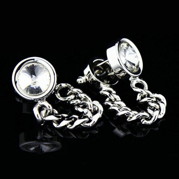 Mens Silver Wrap Around Cufflinks Set from Gentlemansguru.com