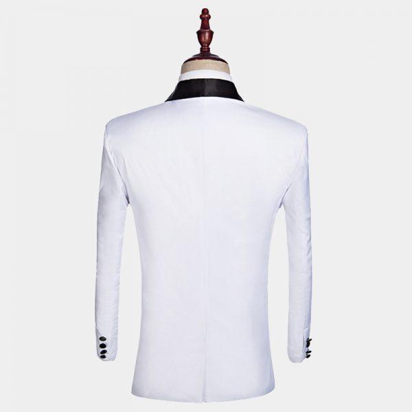Mens White Tuxedo Wioth Black Trim from Gentlemansguru.com