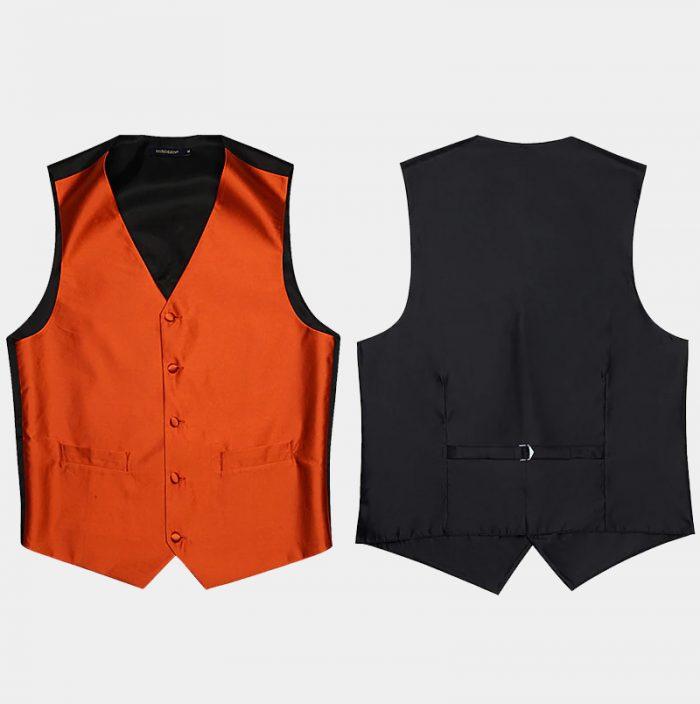 Orange Vest And Top For Men from Gentlemansguru.com