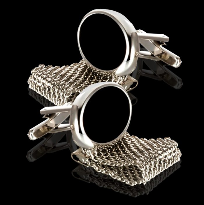 Oval Mesh Wrap Around Cufflinks from Gentlemansguru.com