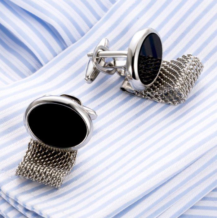 Oval Vintage Wrap Around Cufflinks Set For Men from Gentlemansguru.com