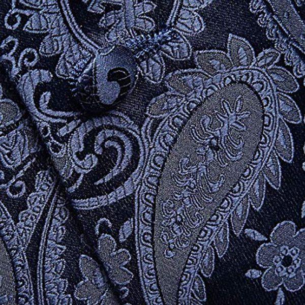 Patterned Paisley Nvy Blue Tuxedo Vest For Groom-Groomsmen from Gentlemansguru.com