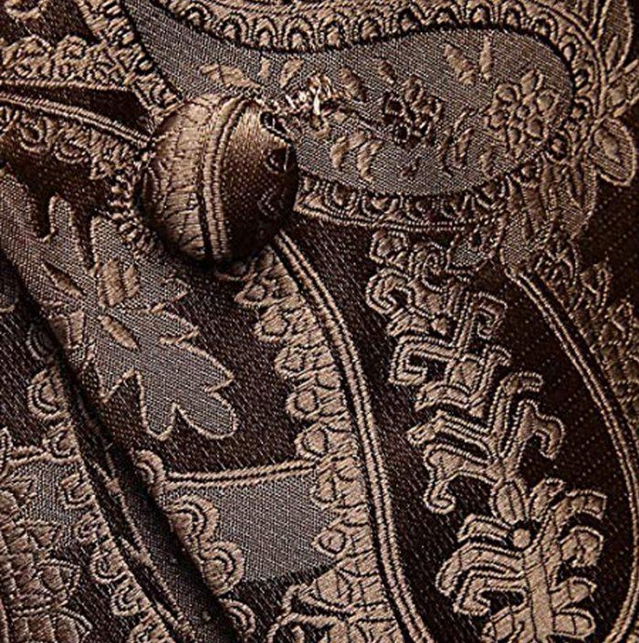 Patterned Wedding-Tuxedo Brown Paisley Vest And Tie Set from Gentlemansguru.com