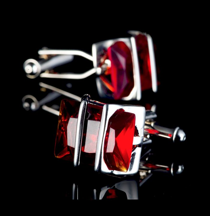 Red-And-Silver-Cufflinks-For-Men-from-Gerntlemansguru.com