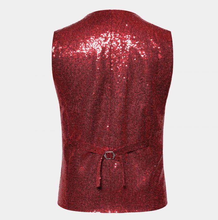 Red Sparkly Ves Top For Men from Gentlemansguru.com