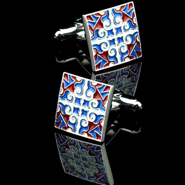 Red White and Red Cufflinks Enamel Cufflinks from Gentlemansguru.com