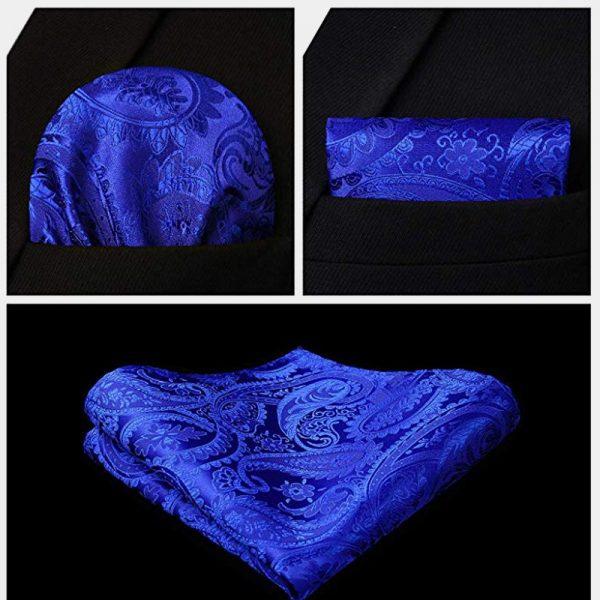 Royal Blue Vest Set Pocket Square from Gentlemansguru.com
