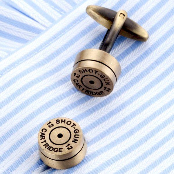 Shotgun Shell Cufflinks 12 Gauge from Gentlemansguru.com