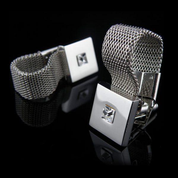 Silver Swank Wrap Around Cufflinks from Gentlemansguru.com