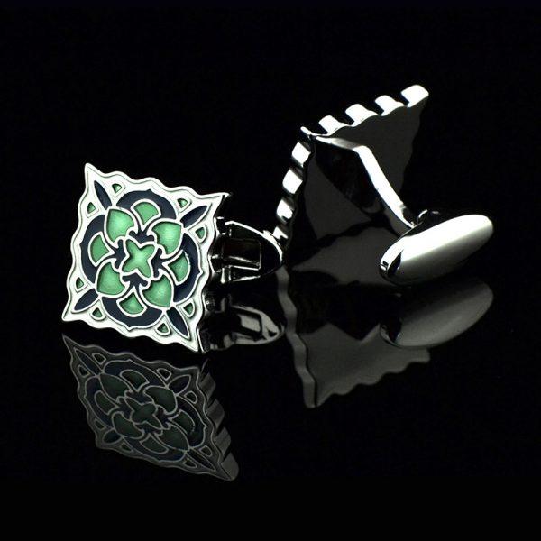 Vintage Green Enamel Cufflinks Set from Gentlemansguru.com