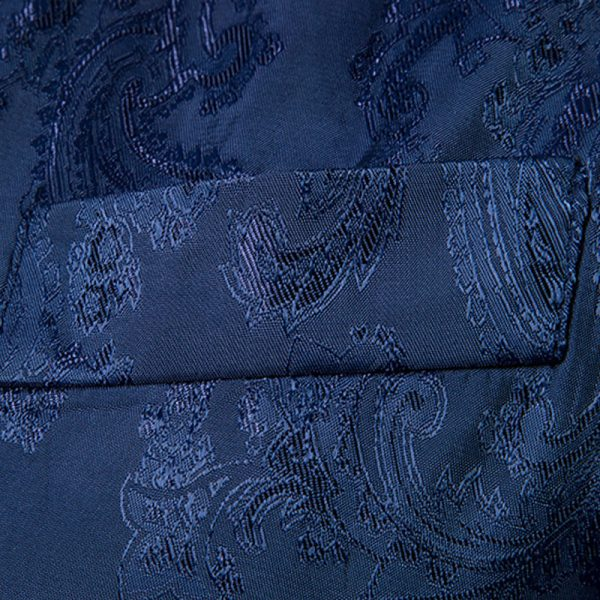 Wedding Formal Blue Paisley Waistcoat from Gentlemansguru.com-Récupéré