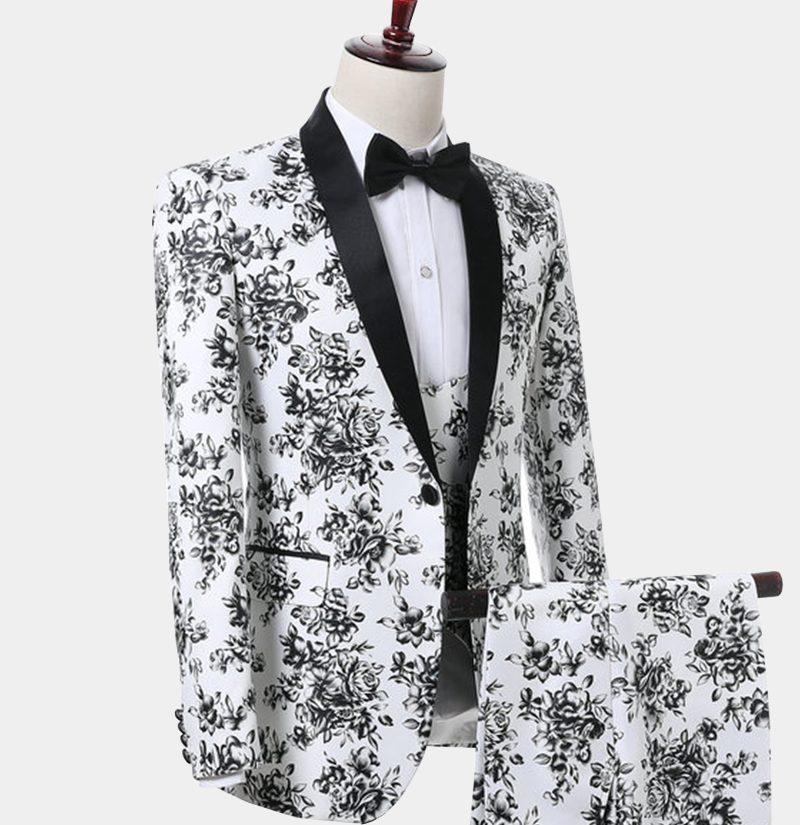 Black And White Wedding Tuxedo Suit from Gentlemansguru.com