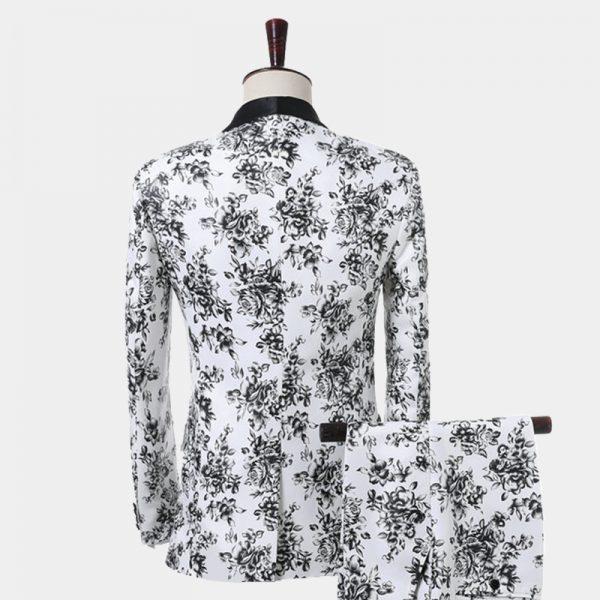 Floral Black And White Tuxedo From Gentlemansguru.com