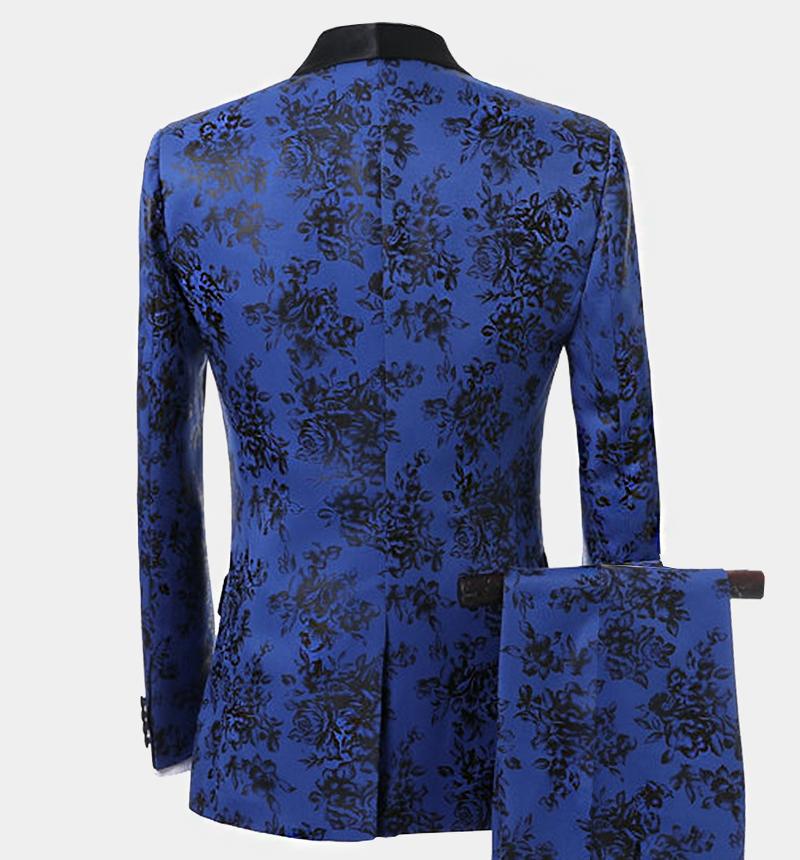 Floral-Black-Blue-Tuxedo-Grooms-Wedding-Prom-Suit-from-Gentlemansguru.com