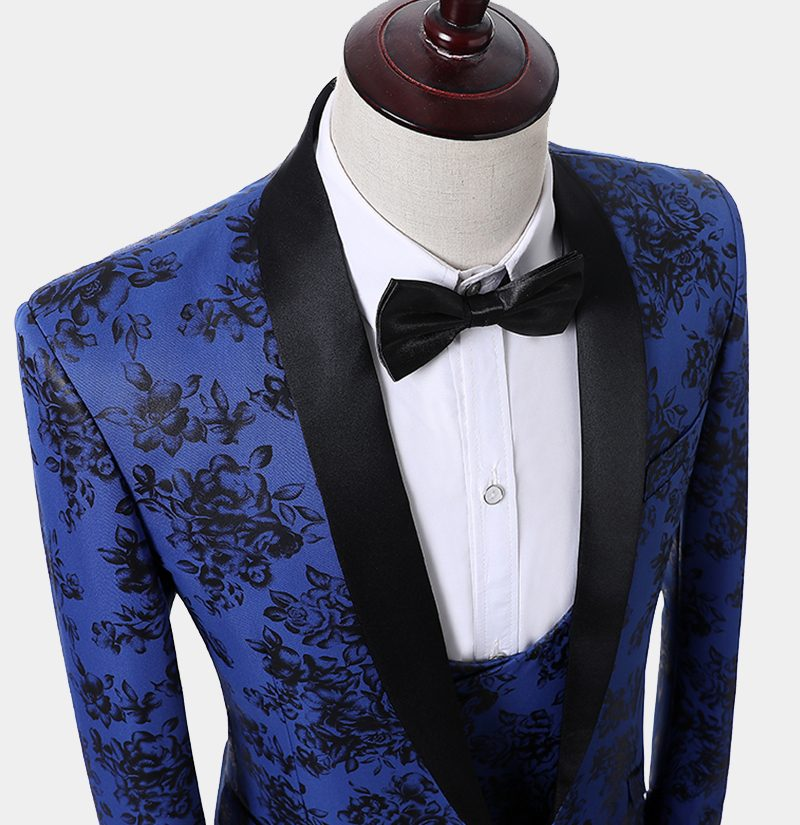 Mens Blue And Black Tuxedo Jacket from Gentlemansguru.com