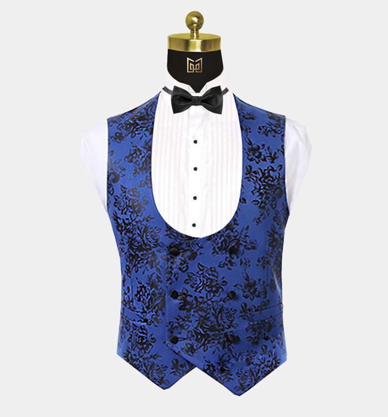 Mens-Blue-and-Black-Tuxedo-Vest-Waistcoat--from-Gentlemansguru.com