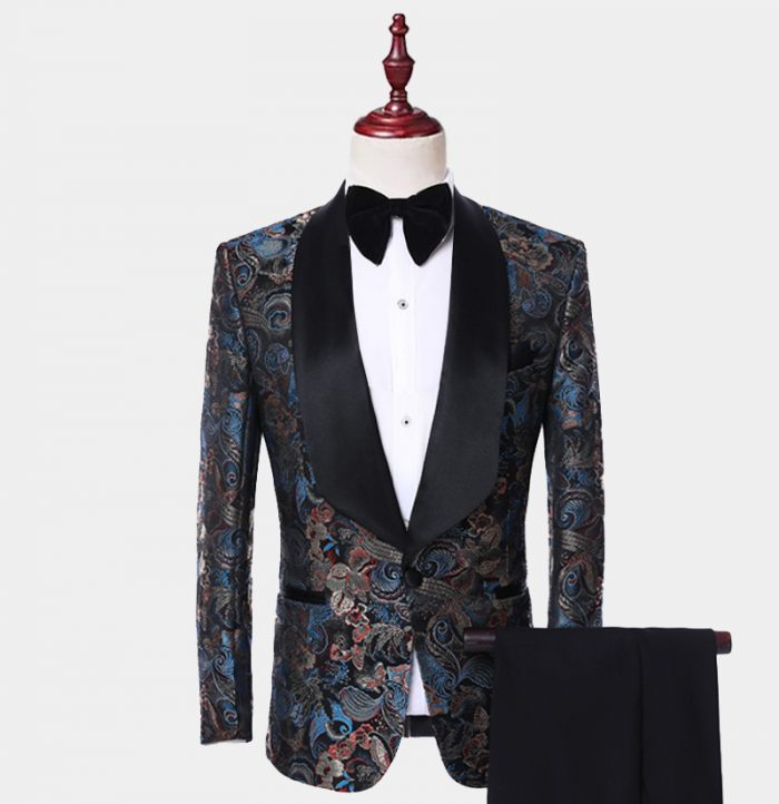 Mens Embroidered Tuxedo Suit from Gentlemansguru.com