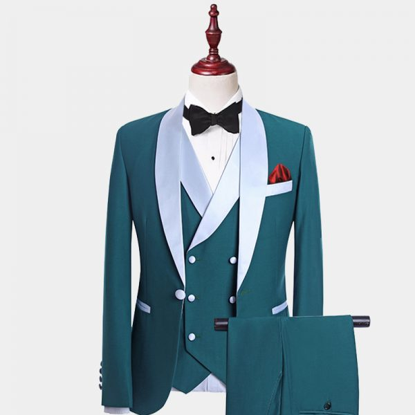 Mens Teal Tuxedo Suit For Wedding-Prom from Gentlemansguru.com