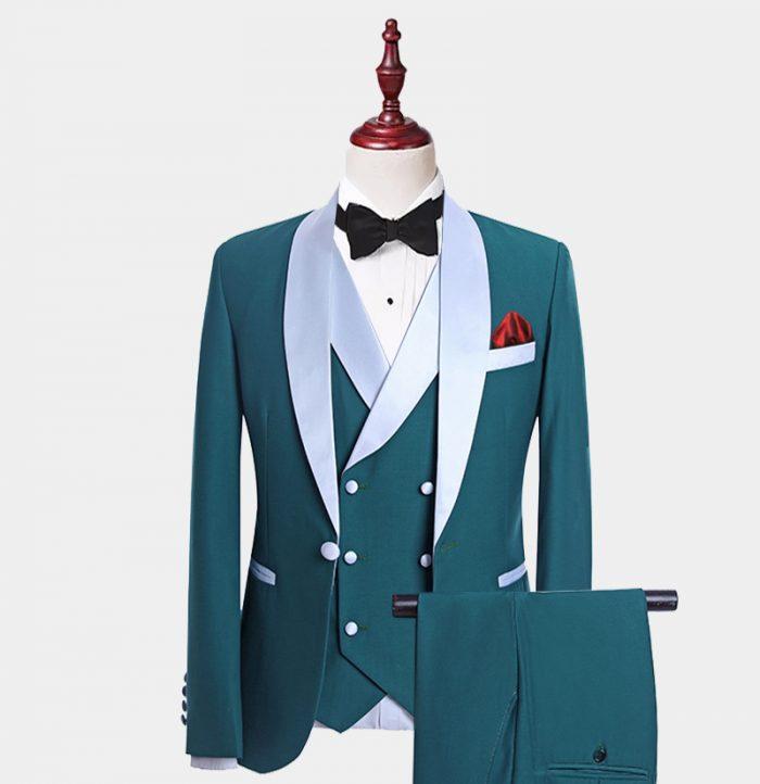 Mens Teal Tuxedo Suit For Wedding-Prom from Gentlemansguru.com