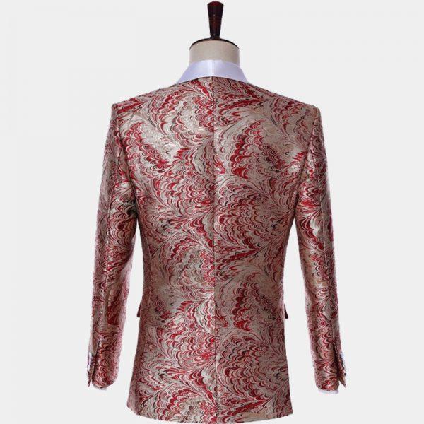 Red White And Champagne Tuxedo Suit Jacket Wedding-prom from Gentlemansguru.com