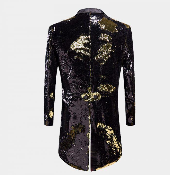 Black And Gold Sequin Tux Jacket Costume from Gentlemansguru.com