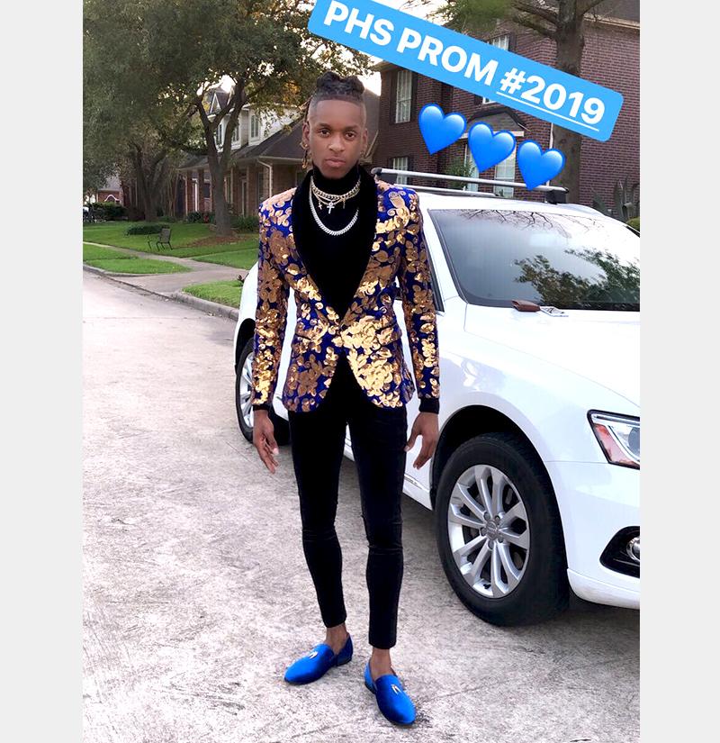 Customer Gallery-Blue-Gold-Tuxedo-2 from GentlemansGuru.com