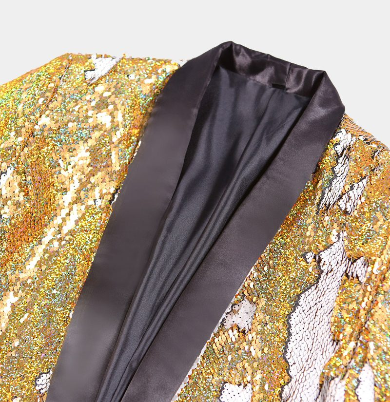 Gold Sparkly Glitter Tux Jacket from Gentlemansguru.com