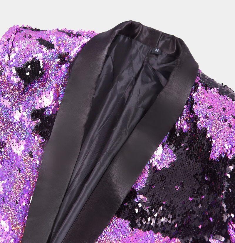 Purple And Black Tuxedo Jacket from Gentlemansguru.com
