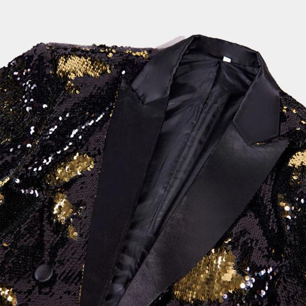 Sparkly Glitter Gold Sequin Tail Coat Tuxedo Jacket from Gentlemansguru.com