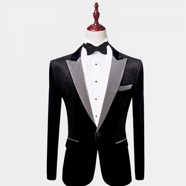 Black-Glitter-Tuxedo-Jacket-from-Gentlemansguru.com