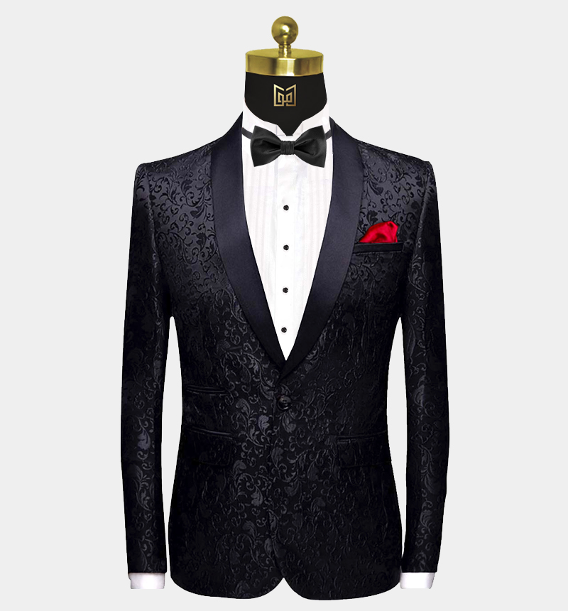 Black-Paisley-Tuxedo-Jacket-Prom-Blazer-Dinner-Jacket-from-Gentlemansguru.com
