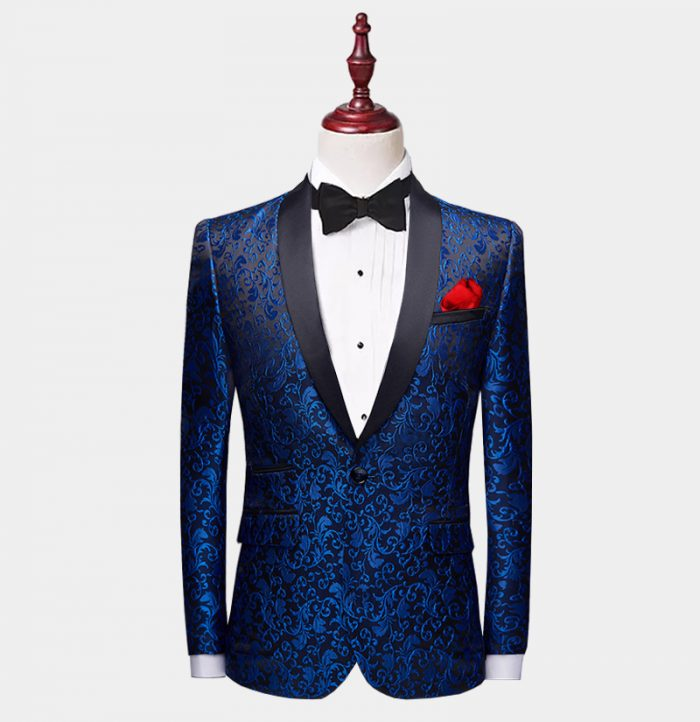 Blue Paisley Tuxedo Jacket from-Gentlemansguru.com
