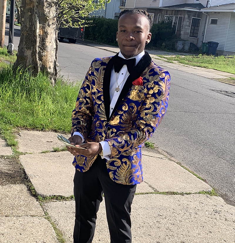 Customer Gallery With Blue And Gold Tuxedo from Gentlemansguru.com