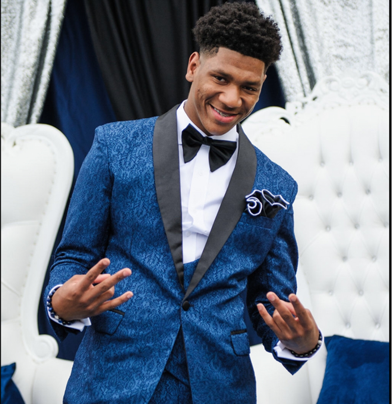Customer Gallery With Navy Blue Tuxedo Suit from Gentlemansguru.com