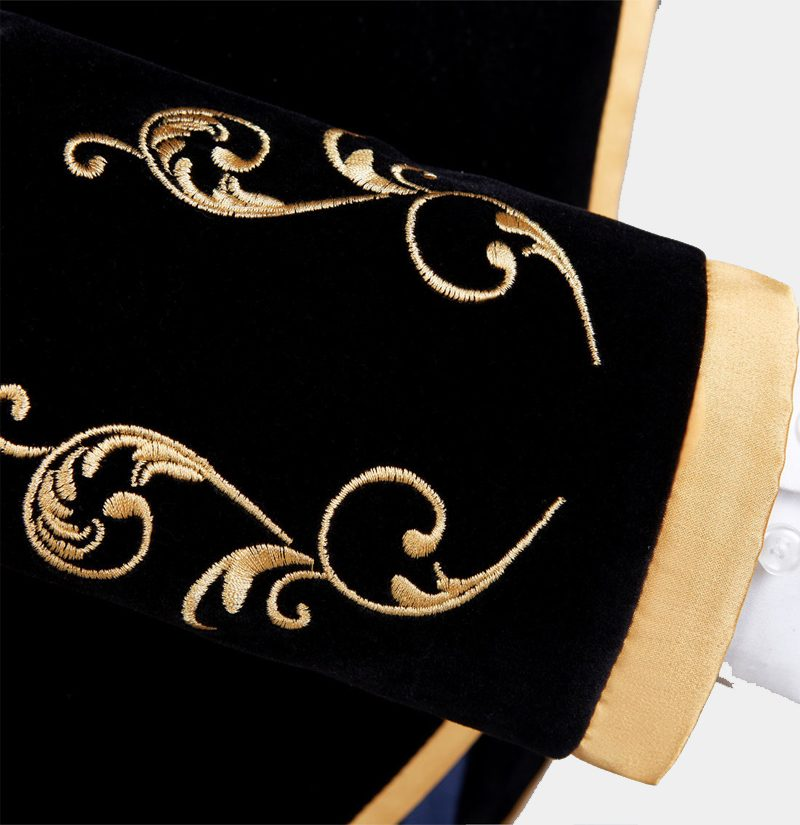 Luxury-Prom-Jacket-Mens-In-Black-And-Gold-from-Gentlemansguru.com