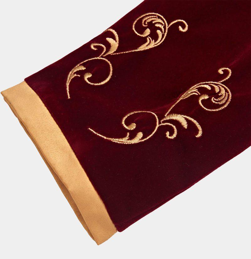 Luxury-Prom-Jacket-Mens-Maroon-And-Gold-Blazer-from-Gentlemansguru.com