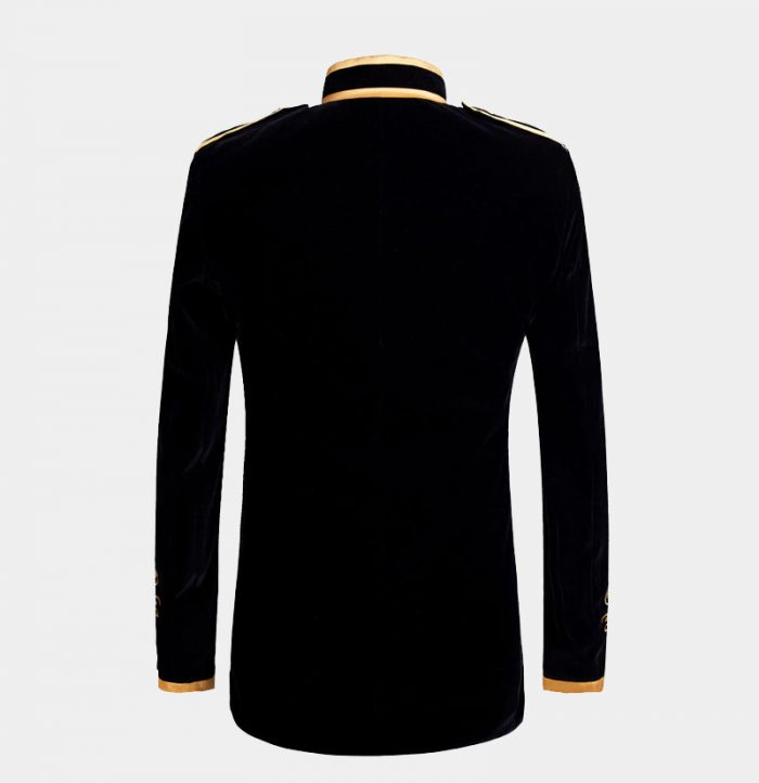 Mens-Black-And-Gold-Velvet-Blazer-from-Gentlemansguru.com