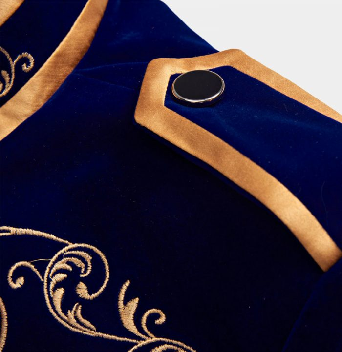 Mens-Prince-Jacket-Asian-Style-With-Blue-And-Gold-from-Gentlemansguru.com
