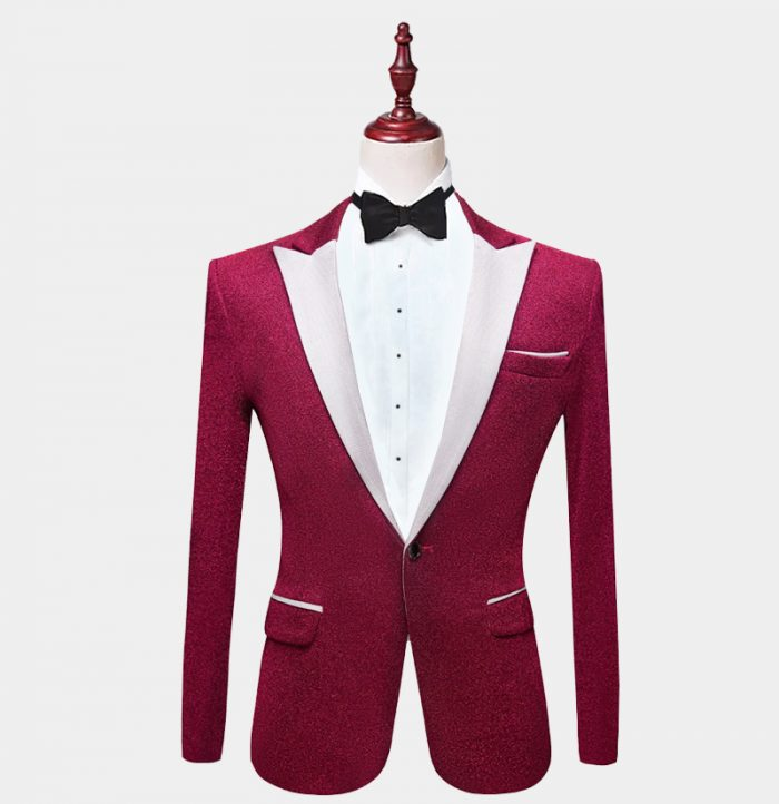 Fuchsia-Pink Glitter-Tuxedo-Jacket-from-Gentlemansguru.com