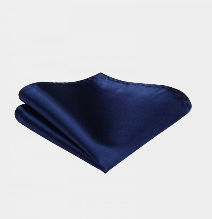 Silk-Navy-Blue-Pocket-Square-Hankerchief-from-Gentlemansguru.com