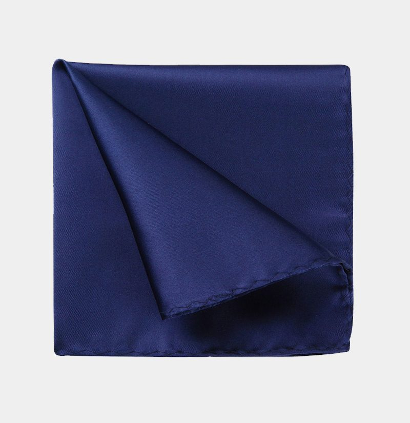 Silk-Navy-Blue-Pocket-Square-from-Gentlemansguru.com