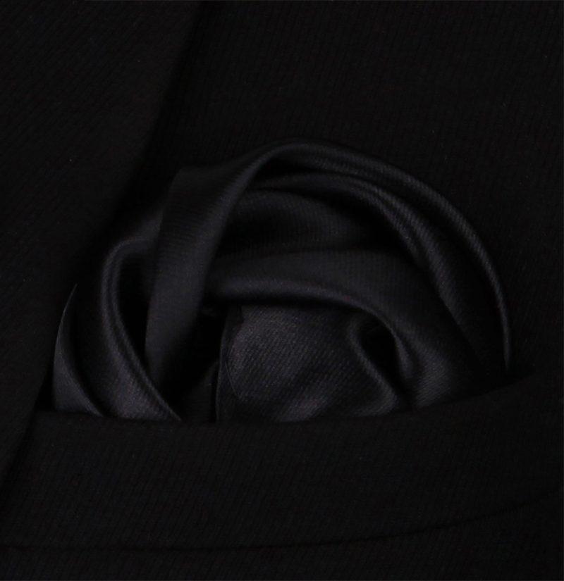 Solid-Black-Silk-Pocket-Square-Hankerchief-from-Gentlemansguru.com