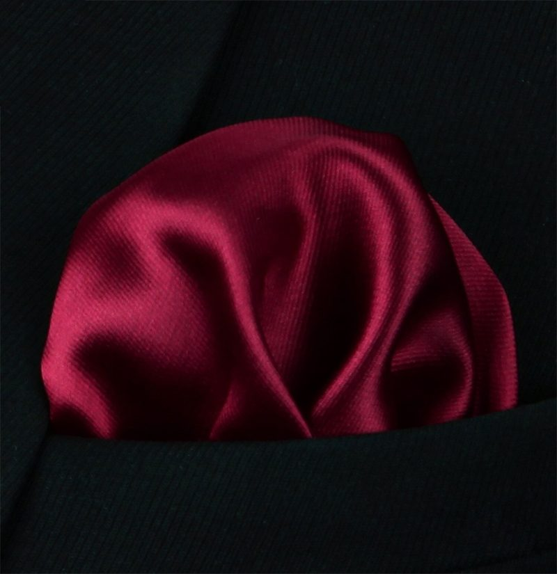 Solid-Burgundy-Silk-Pocket-Square-Hankerchief-from-Gentlemansguru.com