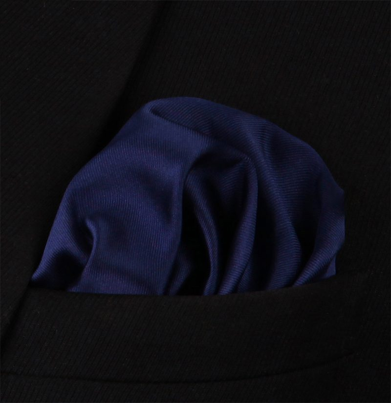 Solid-Navy-Blue-Silk-Pocket-Square-Hankerchief-from-Gentlemansguru.com