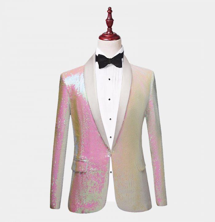 White-And-Pink-Tuxedo-Jacket-In-Sequins-Prom-Wedding-from-Gentlemansguru.com