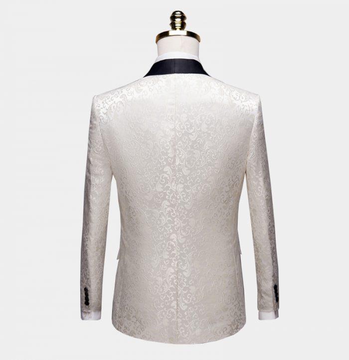 White Paisley Dinner Jacket from-Gentlemansguru.com