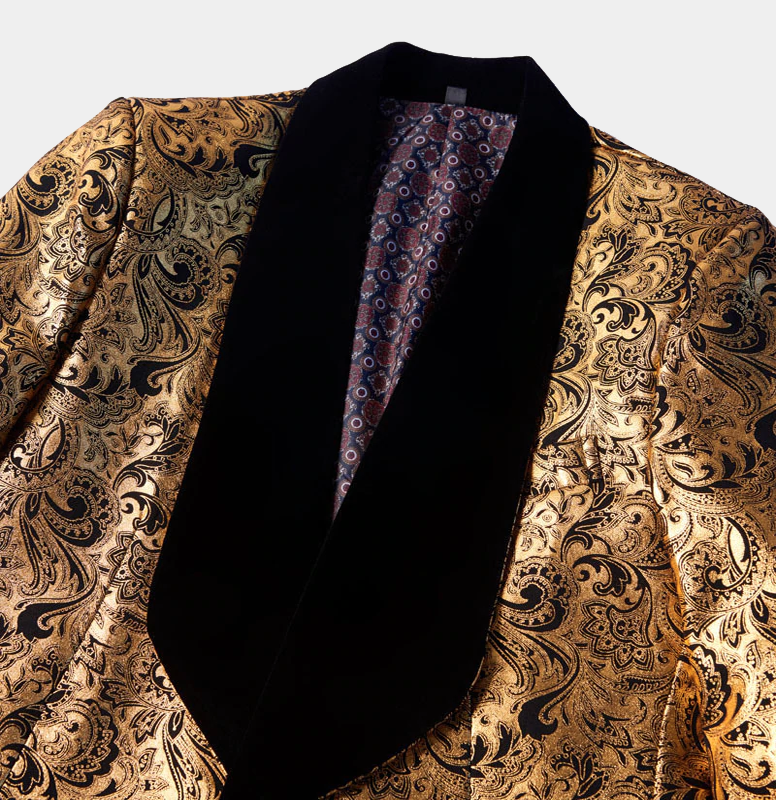 Black-Gold-Paisley-Jacket-Prom-Blazer-Tuxedo-from-Gentlemansguru.com