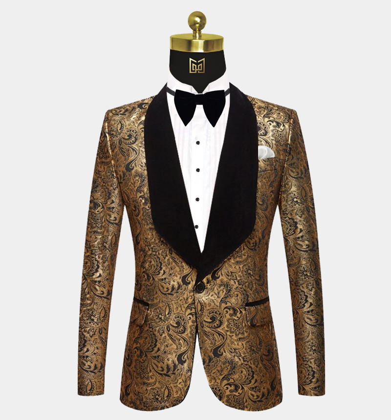 Black-and-Gold-Paisley-Tuxedo-Jacket-Prom-Blazer-Dinner-Jacket-from-Gentlemansguru.com