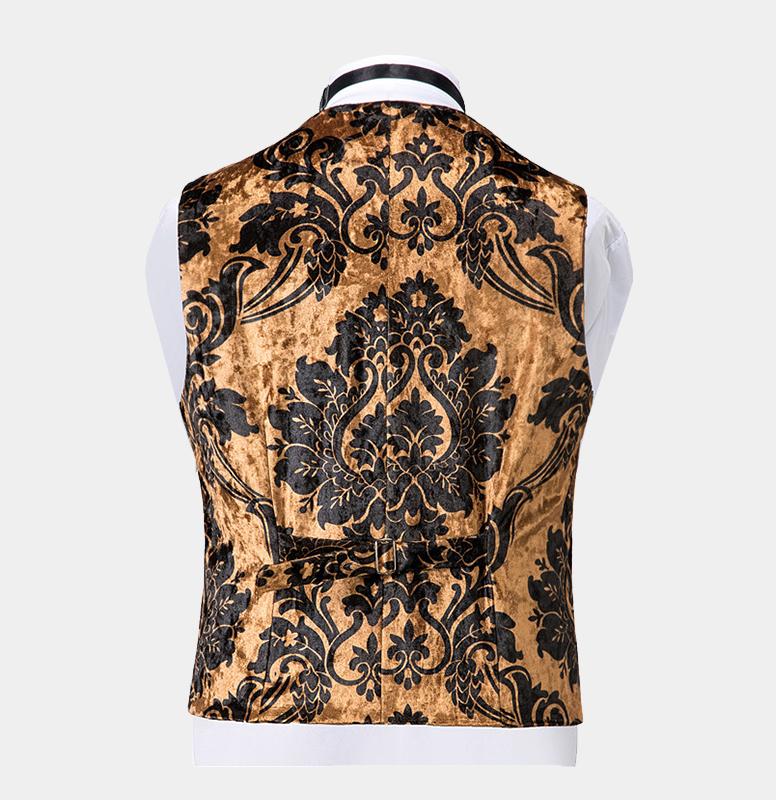 Black-and-Gold-Tuxedo-Waistcoat-from-Gentlemansguru.com