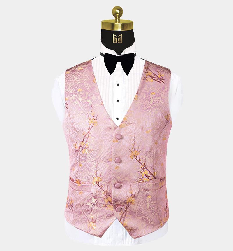 Blush-Pink-Tuxedo-Vest-Wedding-Waistcoat-from-Gentlemansguru.com